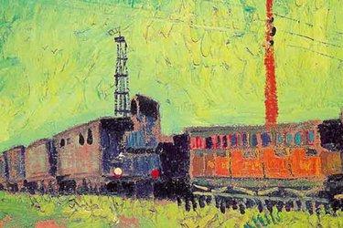 Vagoni di treno van gogh