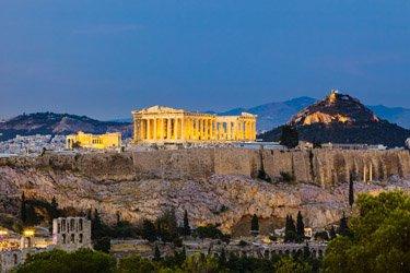Acropoli e Partenone ad Atene