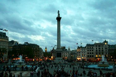 Trafalgar Square e National Gallery di Londra