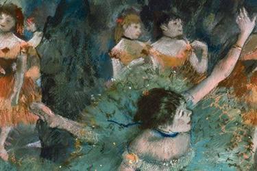 Ballerina inchinata di Degas