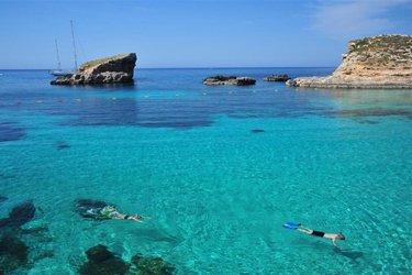La Blue Lagoon di Comino a Malta