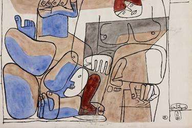 La Caduta di Barcellona di Le Corbusier