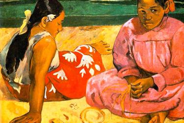 donne-tahitiane-sulla-spiaggia-gauguin-museo-orsay-parigi