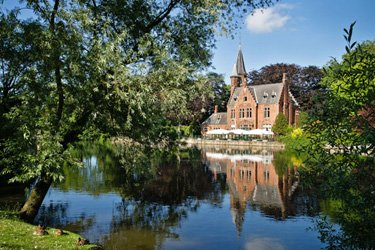 Il Lago Minnewater a Bruges