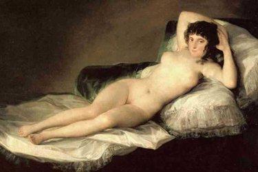 Maja vestida e Maja desnuda di Francisco Goya