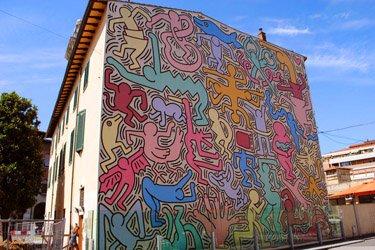 Il Murales di Keith Haring a Pisa