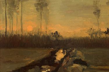 Paesaggio al tramonto di Van Gogh