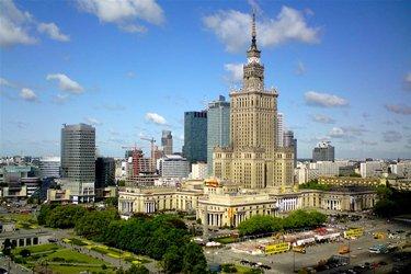Il Palazzo della Cultura e della Scienza a Varsavia