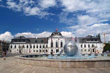 Palazzo Grassalkovich, il più bello di Bratislava.