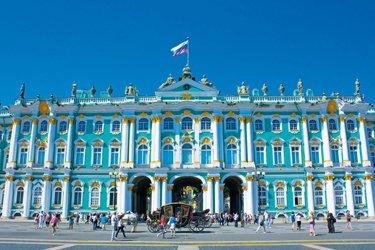 Il Palazzo d'Inverno a San Pietroburgo