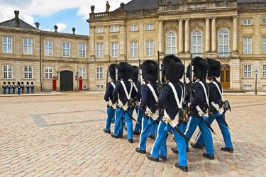 Palazzo Reale di Amalienborg a Copenhagen