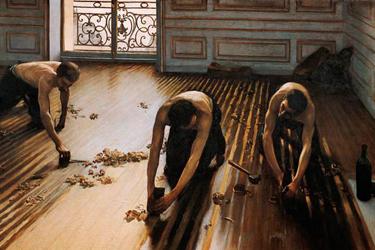 I Piallatori di parquet di Gustave Caillebotte