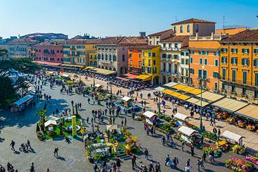 Piazza Brà a Verona