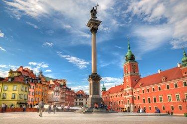 Piazza del Castello a Varsavia