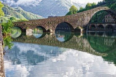 Ponte del Diavolo nei dintorni di Lucca