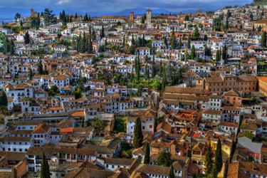 Il quartiere Albayzin di Granada