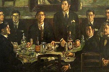 Tertulia del Cafè d Pombo di J.G. Solana