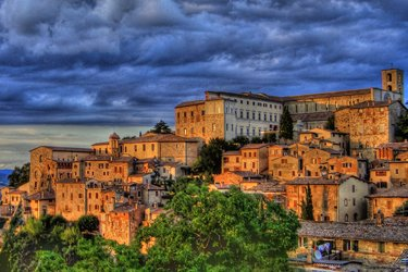 Panorama di Todi in Umbria