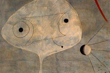 Uomo con pipa di Joan Mirò