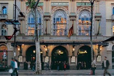 Il Teatro Liceu sulla Rambla