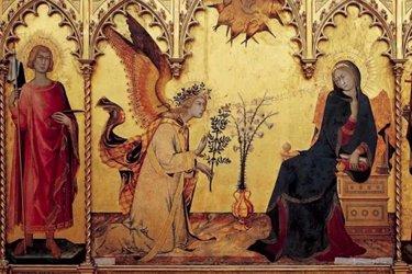 """L'Annunciazione"""" di Simone Martini nella Sala del Trecento"""