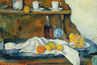 Il Buffet di Cezanne al Museo di Belle Arti di Budapest.