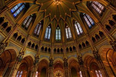 La cupola del Parlamento ungherese a Budapest