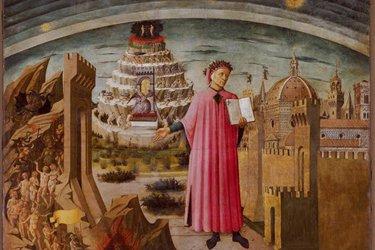 Dipinto raffigurante Dante di Domenico di Michelino