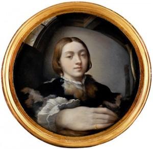 l'Autoritratto allo specchio del Parmigianino