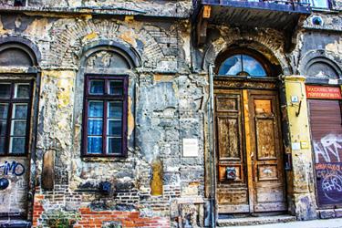 il vecchio quartiere ebraico di Pest