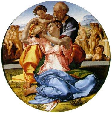 Il Tondo Doni nella Sala di Michelangelo