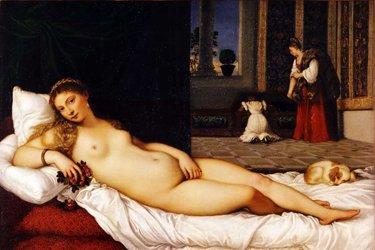 La Venere d'Urbino nella Sala di Tiziano
