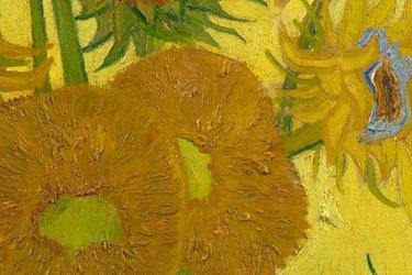 Dettaglio dei girasoli di Van Gogh