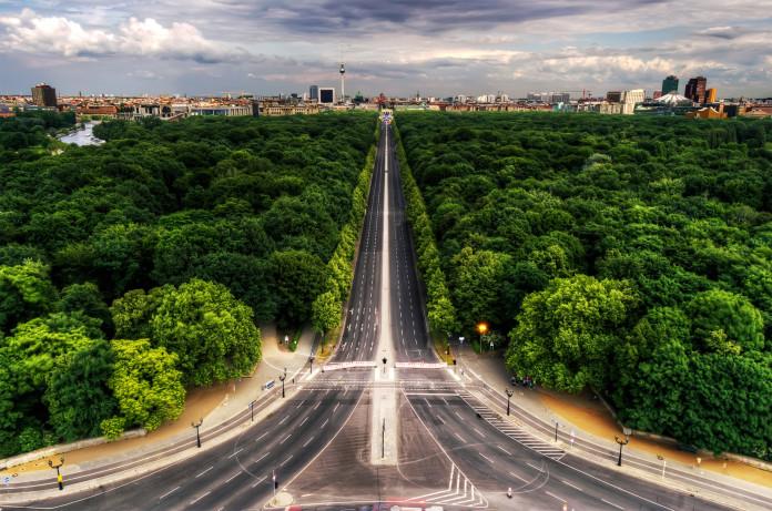 Tiergarten e Colonna della Vittoria a Berlino