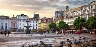 La Baixa di Lisbona