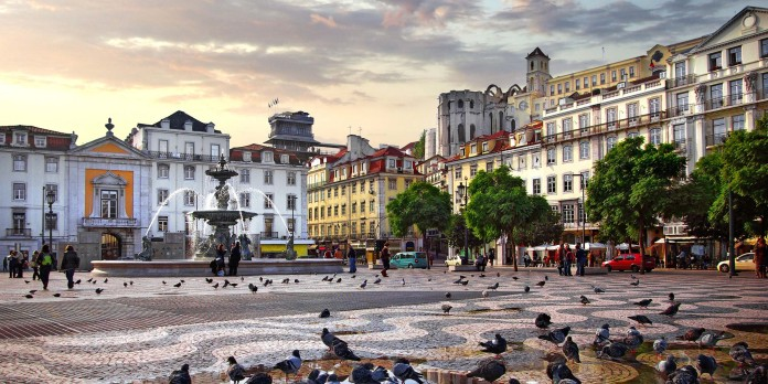 Lisbon overview rossio