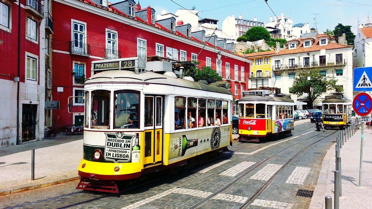 Il tram 28 di Lisbona.