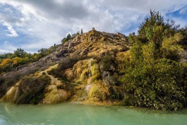 Ruscelli e vasche termali a Bagno Vignoni
