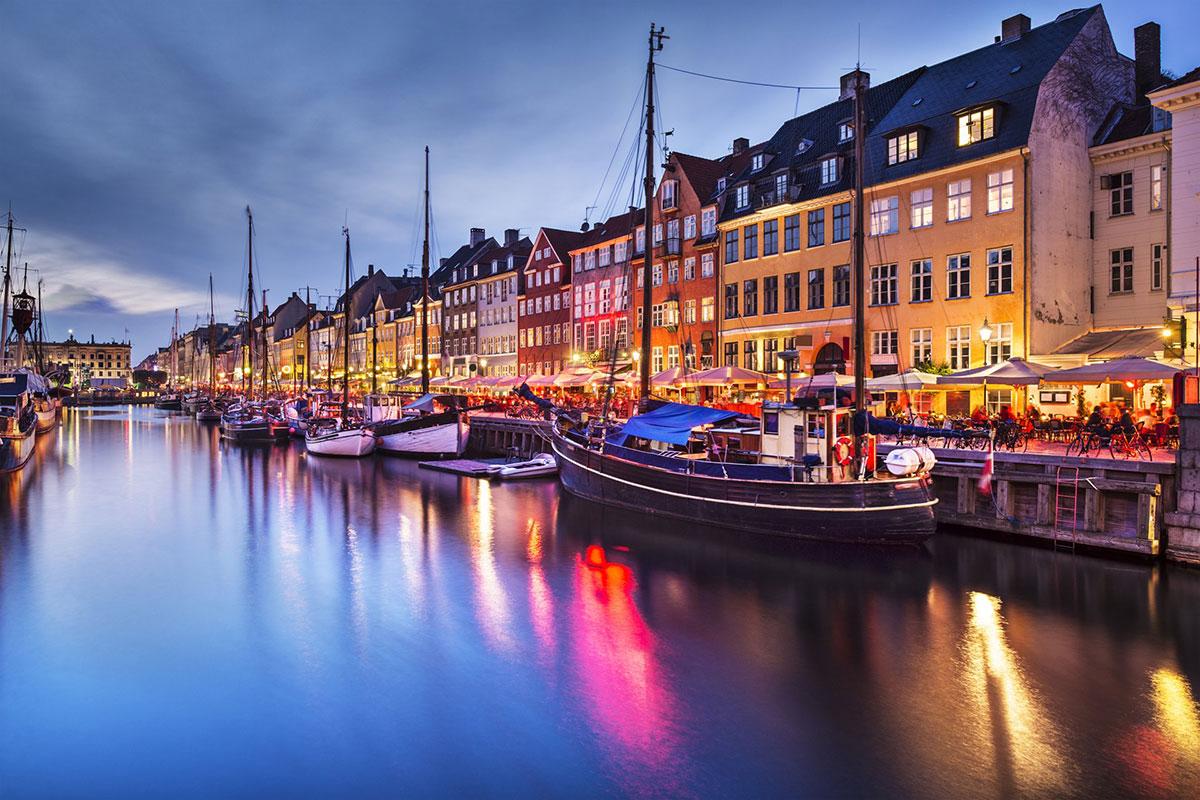 Il Canale di Nyhavn a Copenaghen
