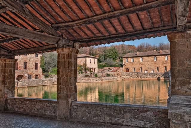 Il loggiato di Santa Caterina a Bagno Vignoni