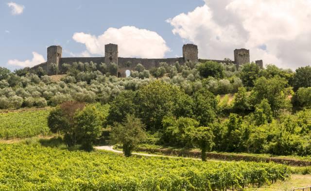 Il panorama di Monteriggioni
