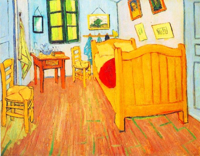 Camera ad Arles di Van Gogh dipinta a Saint-Remy de Provence