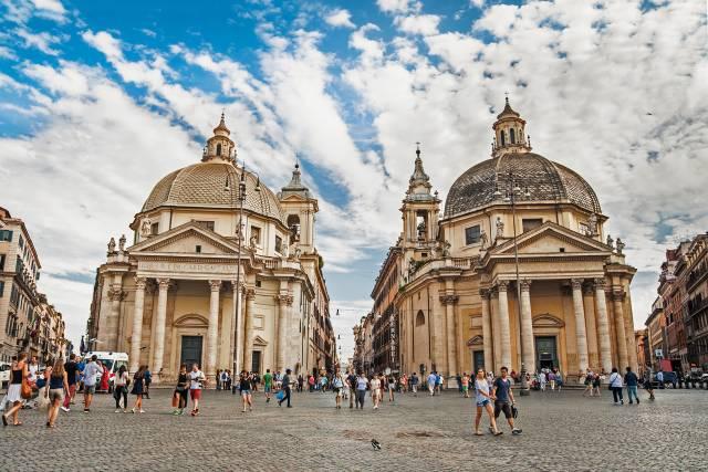 le chiese gemelle di Piazza del Popolo