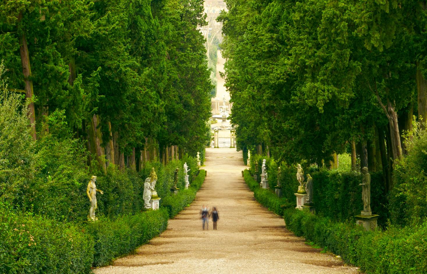 Il giardino di boboli a firenze - Immagini di giardini di villette ...