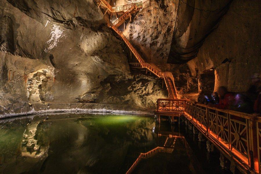 Il lago delle Miniere di sale di Cracovia