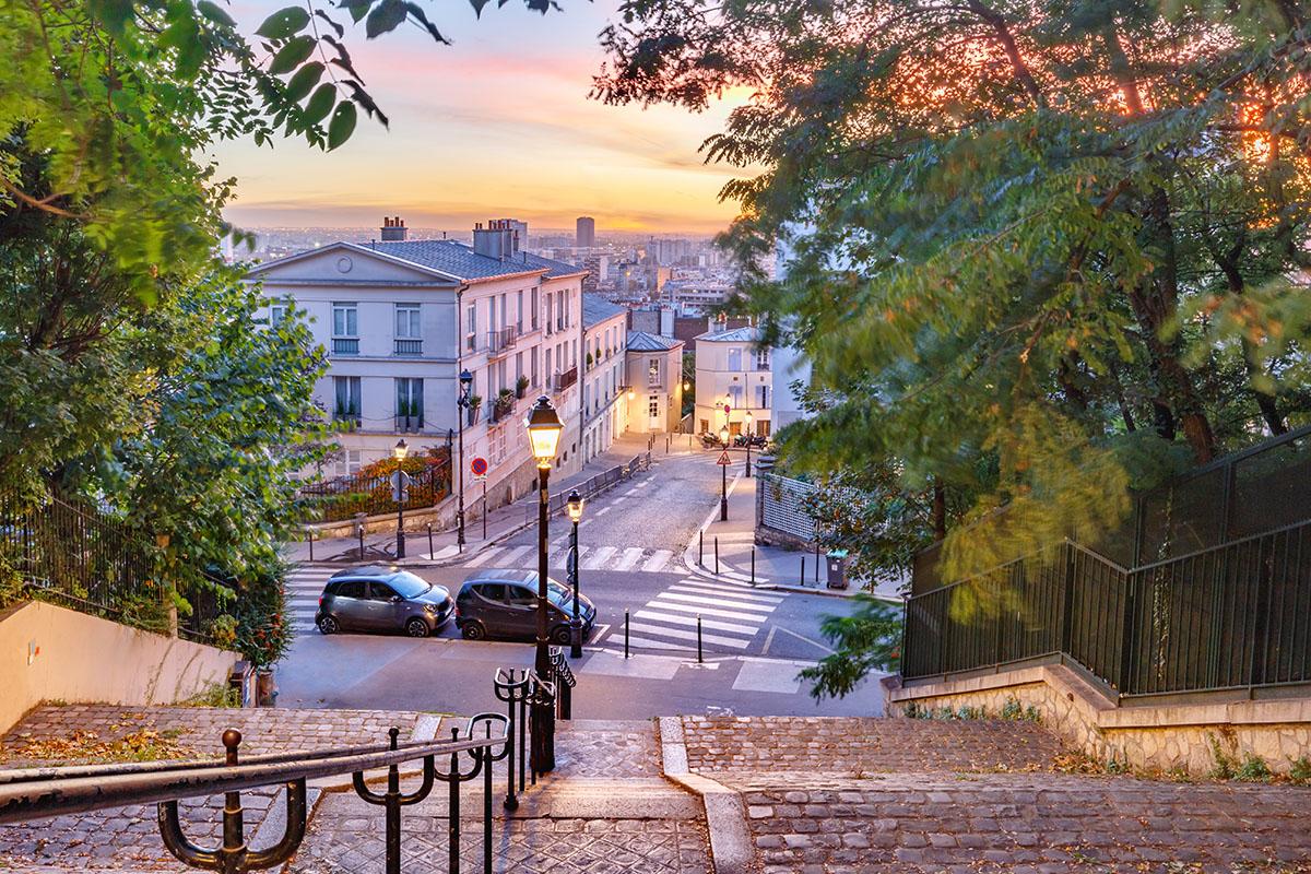 Uno scorcio della vecchia Montmartre