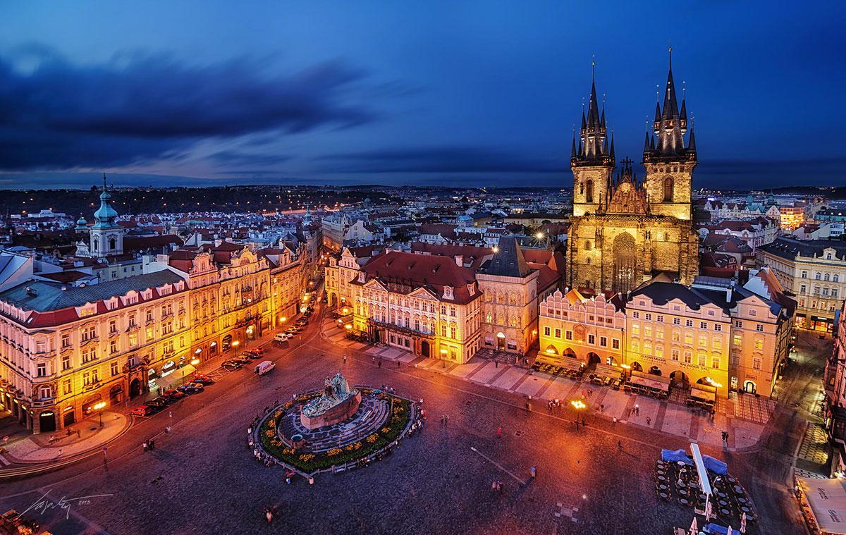Piazza della Citta Vecchia a Praga
