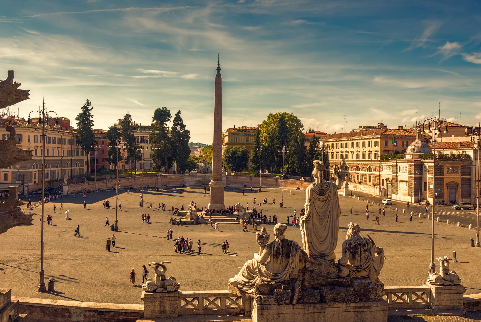 Piazza del popolo a roma for Affitto roma porta di roma