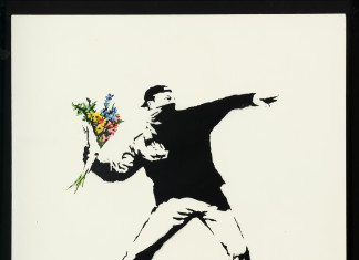 Banksy, Love is in the air (flower trower) 2003 cm. 90 x 90_0020