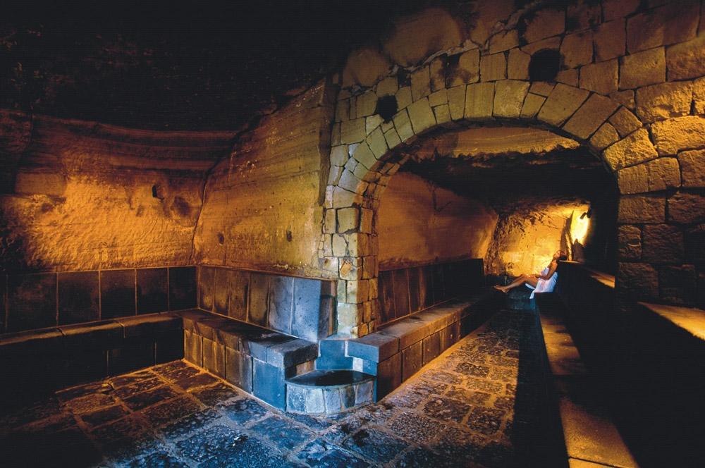 La sauna dei Giardini Poseidon